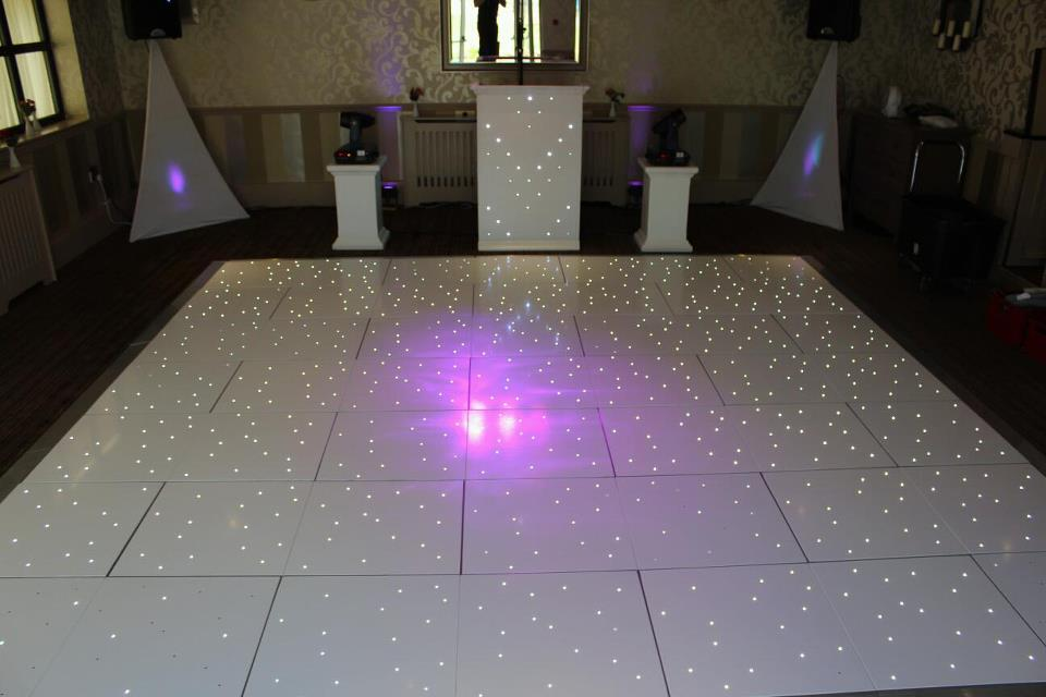 White LED Starlight Dance Floor