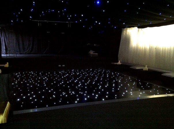 Black LED Starlight Dance Floor