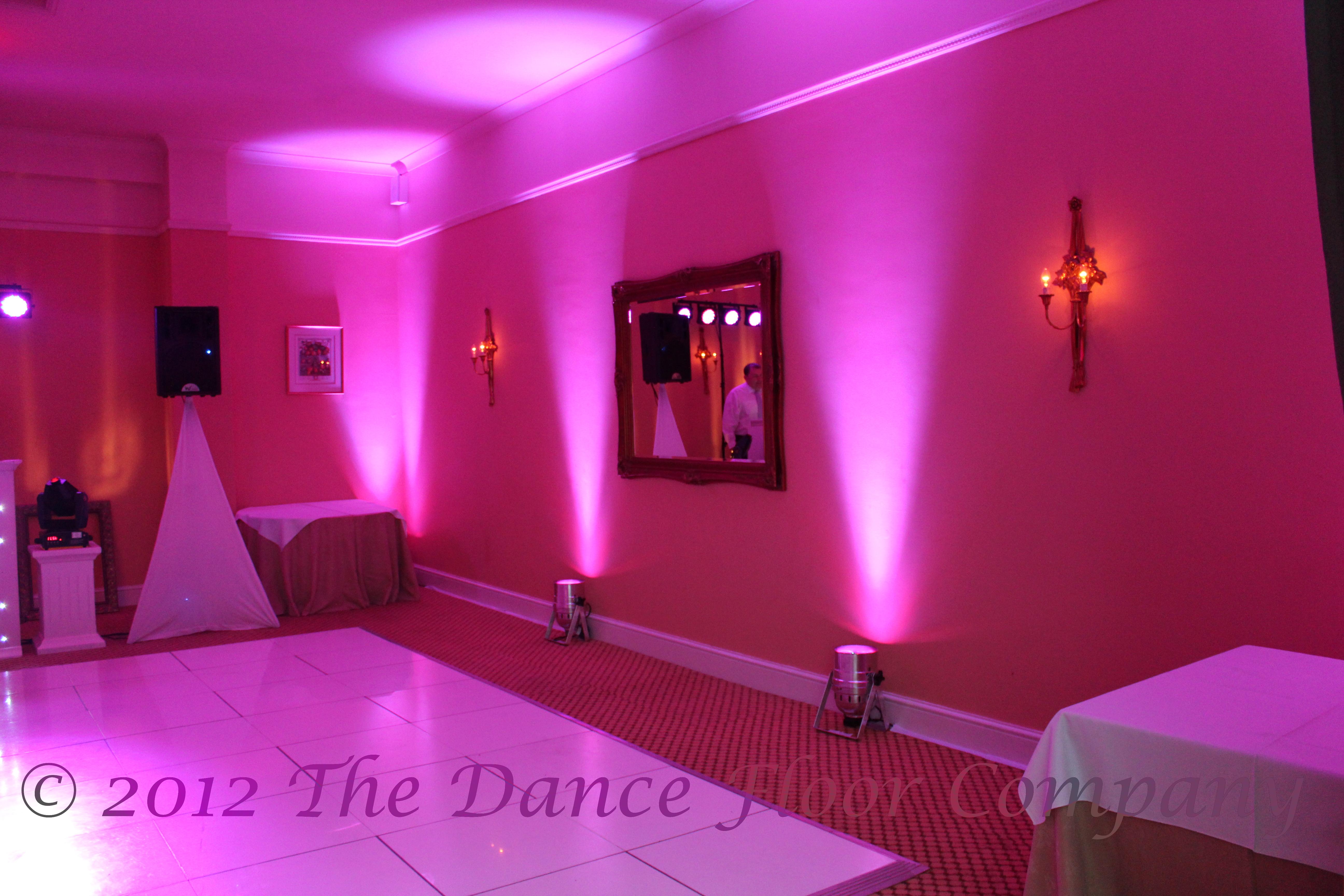 Indoor LED Uplighting The Dance Floor pany